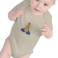Person With Folded Hands Emoji Baby Bodysuit