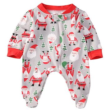 Newborn Kids Infant Baby Girls Christmas Romper  new arrival fashion Jumpsuit Clothes