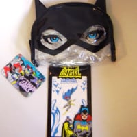 Gotham Girls Batgirl Cat Ears Makeup Bag and Batgirl Junkee Tattoos 2 sheets