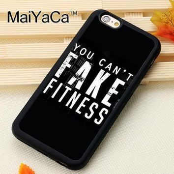 """You Can't Fake Fitness"" Soft TPU Skin Mobile Phone Cases"