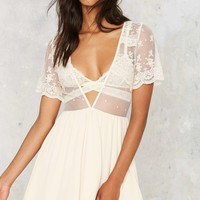 All or Next to Nothing Lace Dress