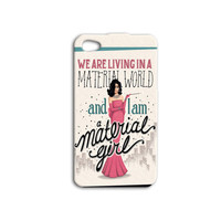 Material Girl iPhone Case Cute Funny Girly iPod Case Pretty iPhone Case iPhone 4 iPhone 5 iPhone 5s iPhone 4s iPhone 5c iPod 4 Case iPod 5
