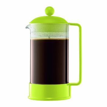 Bodum Brazil 1-Liter 34-Ounce French Press Coffeemaker, Green