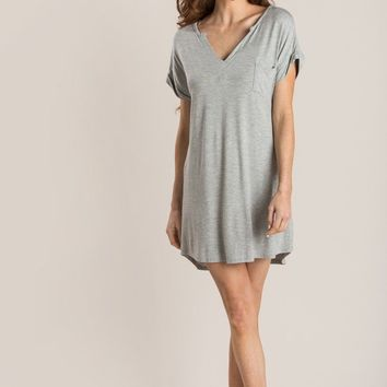 Mellie Grey T-Shirt Dress