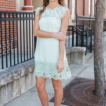 Hopeless Romantic Dress - Sage