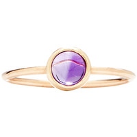 Gemstone Stacking Ring With Amethyst