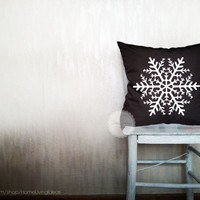 Snowflake pillows holiday decorative throw pillows snow pillows winter pillows throw outdoor pillows holiday decor 12x16 inches pillows