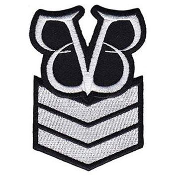 Black Veil Brides - Stripes - Shaped Iron On Patch *** FREE SHIPPING ***