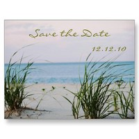 Beachy Wedding  - Save the Date Card Post Cards from Zazzle.com