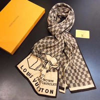 lv  Men Smooth Cashmere Warm Winter Cape Scarf Scarves