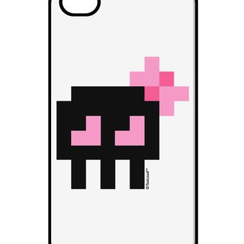 Retro 8-Bit Skull with Pink Bow iPhone 4 / 4S Case  by TooLoud