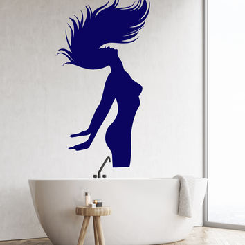 Vinyl Wall Decal Silhouette Naked Woman Bedroom Bathroom Decor Stickers Unique Gift (ig4714)