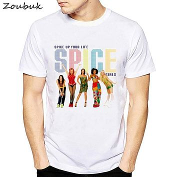 Spice Girls printed tshirt men cool casual t shirt mens fashion white camisetas hombre geek summer top tee shirt homme t-shirt