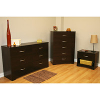 Walmart: South Shore SoHo 3-Piece Dresser and Nightstand Set, Chocolate
