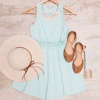 Something New Lace Dress - Mint