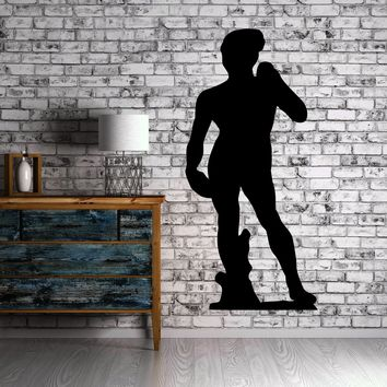 David Michelangelo Statue Outline Wall Decor Mural Vinyl Decal Art Sticker Unique Gift M110