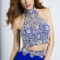 Two piece crystal beaded dress 20370 - Prom Dresses