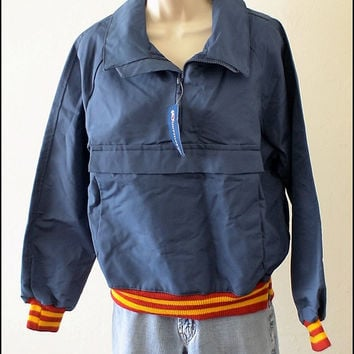 Vintage 1960s 70s Deadstock Obermeyer Ski Jacket Shell Snowboard Windshirt Ladies size L or Unisex Mens Womens NOS retro skiing party