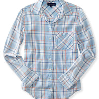 Long Sleeve Bella Plaid Woven Shirt