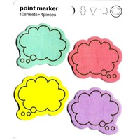Colorful Speech Bubble Outline Shaped Memo Sticky Post-it Notes | Stationery