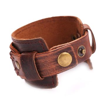 MG1028 Man Cowhide Leather Bracelet