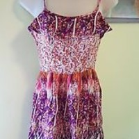 Xhilaration dress S spaghetti straps knee length floral small EUC