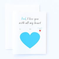 Father's Day Love You With All My Heart Card