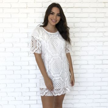 Summer Tribute Dress In White