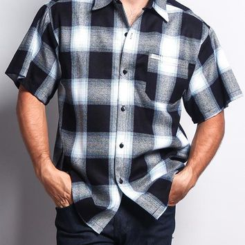 Western Casual Plaid Short Sleeve Button Up Shirt Y2000S