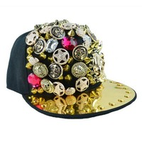 Sparkling Hot Rivet Skull Street Hat/Baseball Cap For Women