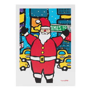 Santa in Times Square Holiday Cards