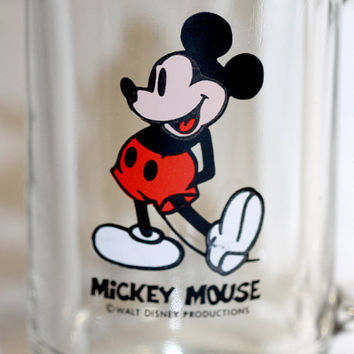 Mickey Mouse Mug Glass Cup Stein Beer Walt Disney