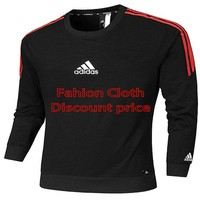 Adidas long-sleeved t-shirt 2018 Spring Clothes AK L-4XL AD119 Red