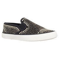 Buy Carvela Lyon Flat Slip On Trainers, Black | John Lewis