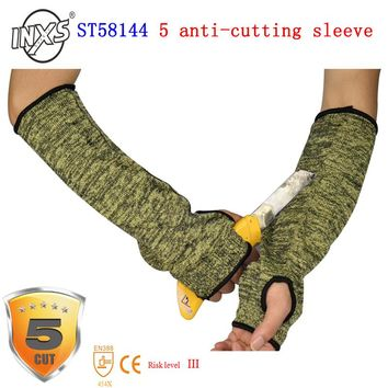The new 2017 anti cut gloves ST - 58144 flame retardant sleeve protect gloves5 high-temperature sleeve