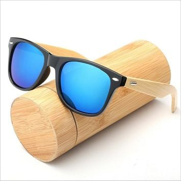 2018 high quality fashion clip on wooden frame sunglasses