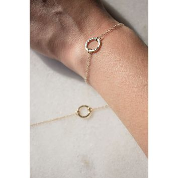 Petite Hammered Ring Bracelet - Christine Elizabeth Jewelry