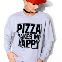 Pizza Makes Me Happy Sweater - Save the People
