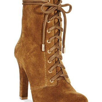 INC International Concepts Women's Bisquit Lace Up Booties