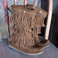 Lil' Sprout Moccasin with Fringe | 2Market2