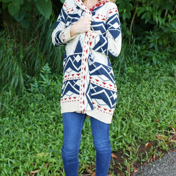 Great Americana Sweater in Ivory - New Arrival