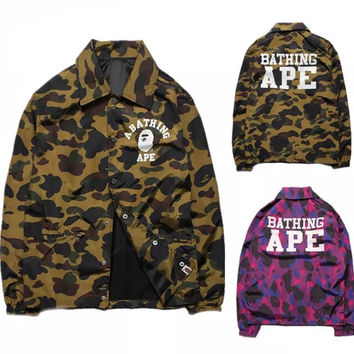 BAPE A Bathing Ape Camoflauge Jacket