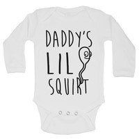 Daddy's Lil Squirt Funny Kids Onesuit - B152