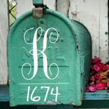 Custom Monogram Mailbox Decal - DIY Mailbox Decor