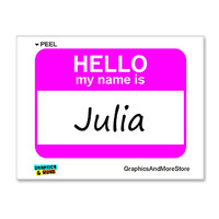 Julia Hello My Name Is Sticker