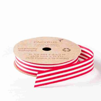 "5/8"" Eco-Friendly Candy Cane Ribbon"