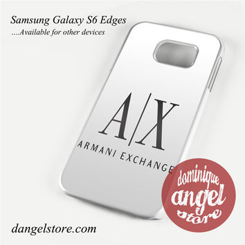armani exchange white Phone Case for Samsung Galaxy S3/S4/S5/S6/S6 Edge