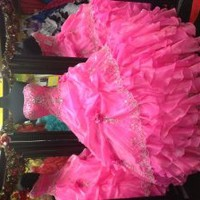 Quinceanera dress/ Quinceañera Gown/ Ball Gown/ Prom Gown/ prom dress/Dress/Pink Dress/