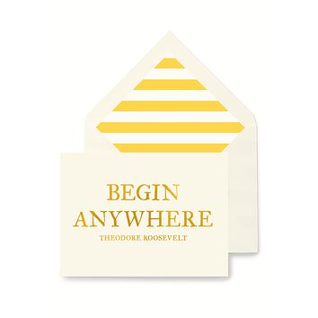 Min. Case Pack // Begin Anywhere Greeting Card, Single Folded Card or Boxed Set of 8