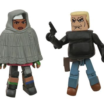 Walking Dead Minimate Michonne and Gabe Action Figures